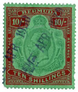 (I.B) Bermuda Revenue : Duty Stamp 10/-