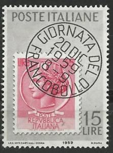 Italy # 793   Stamp Day  1959   (1)   Mint NH