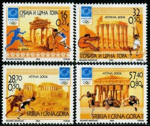 HERRICKSTAMP SERBIA Sc.# 256-59 Olympics