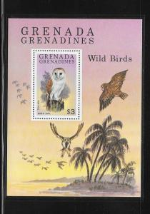 BIRDS - GRENADA GRENADINES #382-BARN OWL   MNH