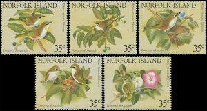Norfolk Island 1981 Sc 287a-e Birds Whiteye CV $2.50