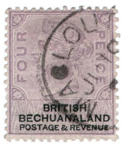 (I.B) British Bechuanaland Revenue : Duty Stamp 4d