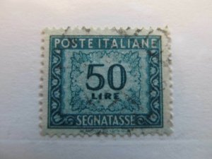A13P20F26 Italien Italie Italy 1947-54 50L fine used postage due stamp