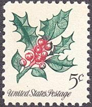 United States # 1254 mnh ~ 5¢ Christmas - Holly