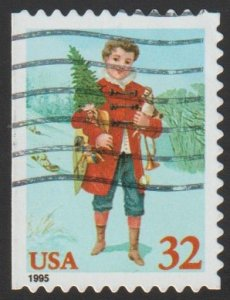 SC# 3011 - (32c) - Child Holding Tree - Used Single Off Paper