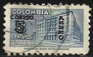 Colombia Air Mail 1953 Scott# C227 Used