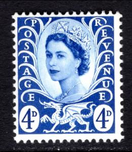 Great Britain Wales and Monmouthshire 2 MNH VF