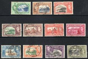 TRINIDAD  AND TOBAGO  --  1938-44  --SG 246-253--      used  cv £10+