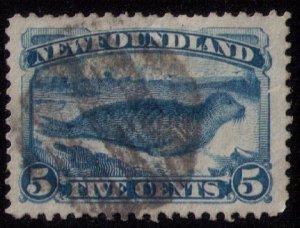 Newfoundland Sc 54 Deep Blue Used F-VF