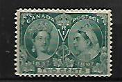CANADA, 52, USED, THIN, JUBILEE ISSUE