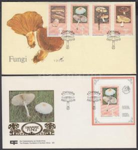 South Africa Ciskei stamp Mushrooms 2 FDC Cover 1987 Mi 110-113 + 2 WS142795