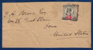 Great Britain Sg 225 On a Cover Front Piece Only To USA