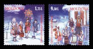 Moldova 2015 Christmas 2 MNH stamps