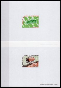 New Caledonia 1977 Sc#422/423 INSECTS (Beetle-Giant Grasshopper) 2 DELUXE SS MNH