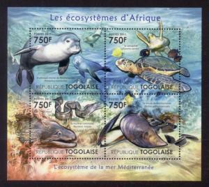 Togo - New Issue - MNH Mediterranean Sea Animals (M/S)