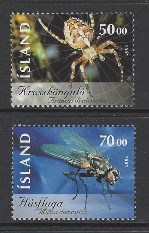 Iceland 2005 Insects Spider VF MNH (1043-4)