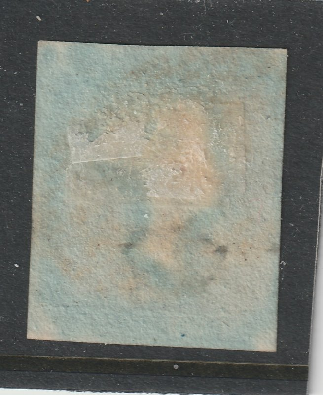 Great Britain a used imperf 2d blue from 1841