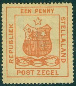 EDW1949SELL : STELLALAND 1884 Sc #1 VF, Mint OG Fresh with hinge thin Cat $225.