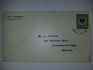 J) 1926 PERU, SUN, AIRMAIL, CIRCULATED COVER, FROM PERU TO ENGLAND