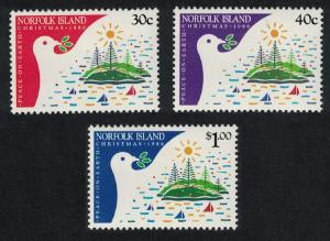 Norfolk Birds Christmas 3v issue 1986 SG#393-395 SC#389-391