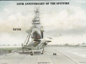 Nevis # 464, Spitfire Fighter - Seafire MKIII, NH 1/2 Cat.