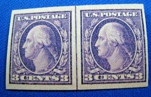 UNITED STATES,  1916   SCOTT #484   PAIR     MLH       (U16)