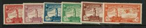 Dominican Republic SC# C10, C13 - C17 Mint Hinged / Few Hinge Rems - S7588