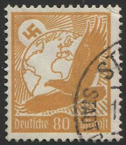GERMANY 1934 Sc C53  80pf, Used, F-VF, Swastika / Eagle / Bird