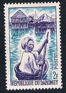 Dahomey 160 MLH Woman in canoe (BP1016)