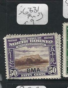 NORTH BORNEO  (P2102B)  50C  MOUNTAIN   BMA     SG 331       MOG