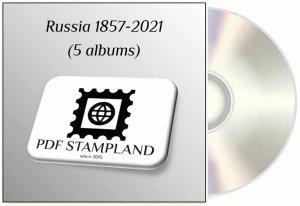 SOVIET UNION USSR RUSSIA 1857-2021 (5 albums) PDF (DIGITAL)  STAMP ALBUM PAGES