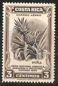 Costa Rica 3 cent 1950 Unused stamp - Pineapple
