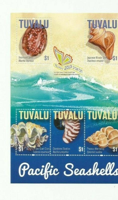 TUVALU 2013  SHELLS  SCOTT 1246  MNH COMPLETE SET