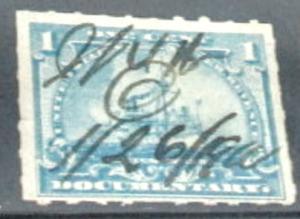 United States R163 1898 R163 pale blue used F