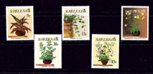 St Helena 588-92 MNH 1993 Flowers