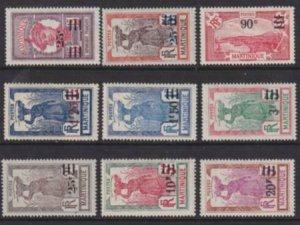 Martinique 1924 SC 120-128 MLH Set