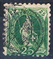 Switzerland 90 Used Helvetia 1888 (HV0072)