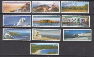 J26426  jlstamps 2004 greece set mnh #2165a-74a views, all checked