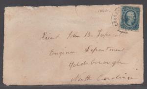 **CSA Cover, SC# 12, Charlottesville, VA, 7/12/1864, Wallpaper Cover