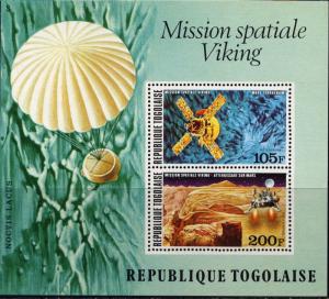 Togo #C290a YTBF96 MNH S/S CV$5 Viking Mission to Mars/Satellite/Parachute