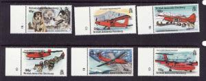 British Antarctic Territory-Sc#218-23-unused NH set-Ships-Planes-1994-