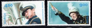 Norway Scott 1292-1293 MNH** 2001 School Bind stamp set
