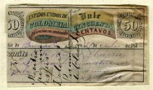 COLOMBIA; 1870 classic CUBIERTAS Stamp fair used item,