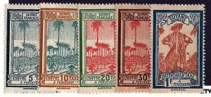French Guiana 1929 J13-16 & J19 mh scv $3.55 less 50%=$1.75