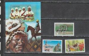 Lesotho 1981 horses birds butterflies wildlife etc  tourism set+s/s MNH