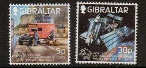 GIBRALTAR SG881/2 1999 U.P.U. MNH