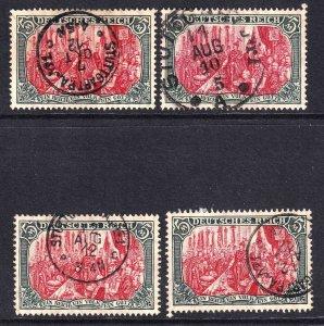 GERMANY 95e PERF HOLES 26:17 XF CDS SOUND x4 $84 SCV F/VF TO VF