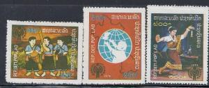 Laos #312,314,316  (MNH)  CV $4.50