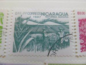 Nicaragua 1987 60cor fine used stamp A11P11F87