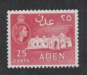 ADEN SC# 51a FVF/LH 1956